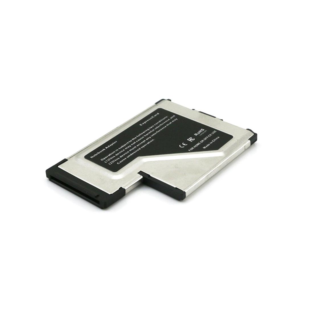 JMT 2 Dual Ports USB 3.0 HUB Express Card ExpressCard 54mm Hidden Adapter Converter USB3.0 for PCMCIA Laptop PC