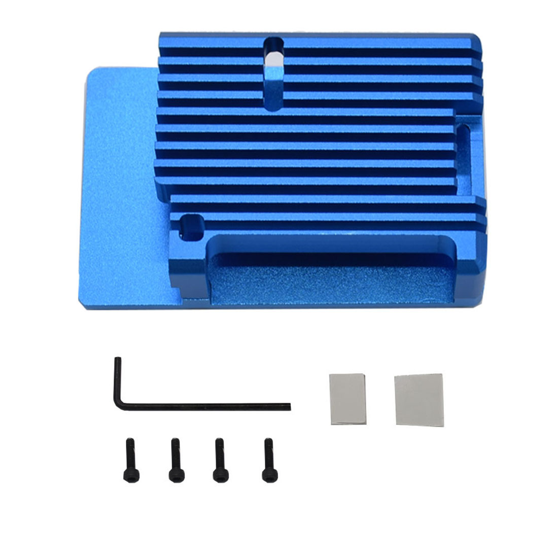 Black Case JMT Dual Fan Cooling Heat Sink with Aluminum Metal Case for Raspberry Pi 2b//3B//3B Plus Model Housing Ultra-Thin Fan