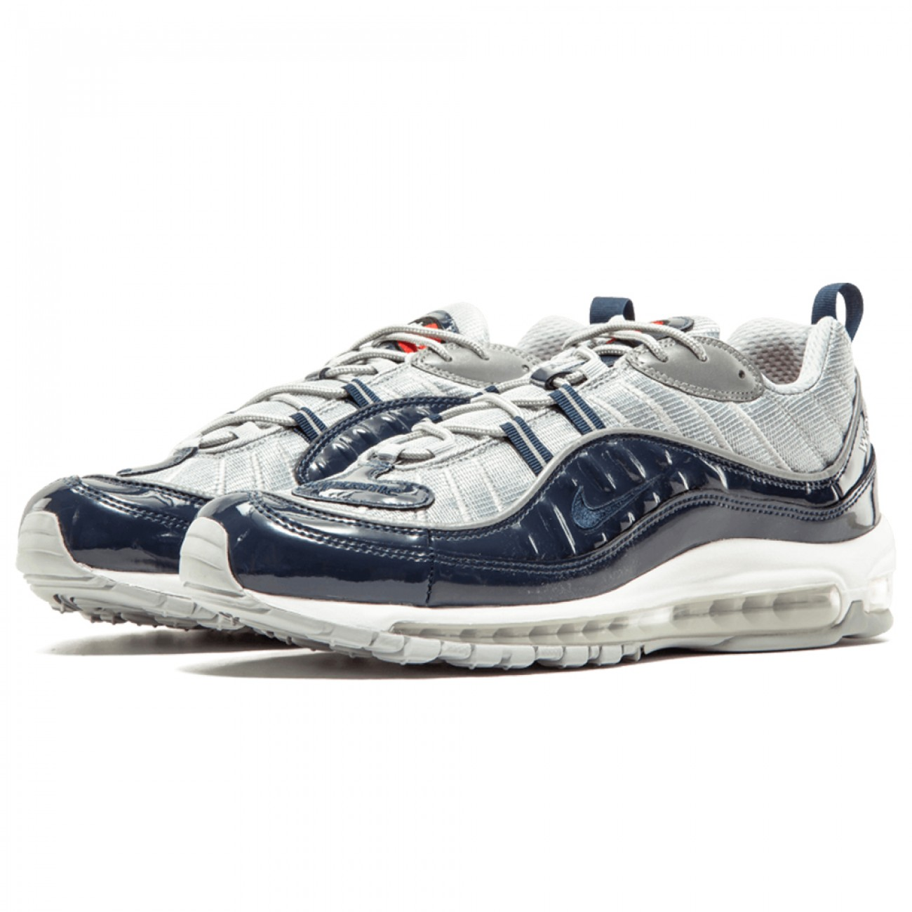 US  80 - SUPREME X NIKE AIR MAX 98 BLUE - www.footarget.com 18e6eb055