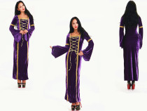 5235 purple medieval costume