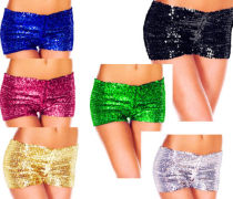 Shiny Sequin Hotpants Sexy Women Bling Bling Strentch Shorts Dancewear XMAS GIFT