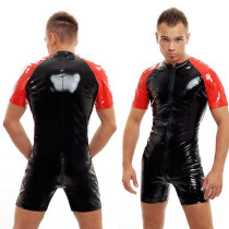 7272 MEN LEATHER PVC COSTUME M-XXL