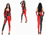 C7408 Sexy leather catsuit