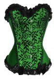 A812G Boned Lace up Burlesque Corset