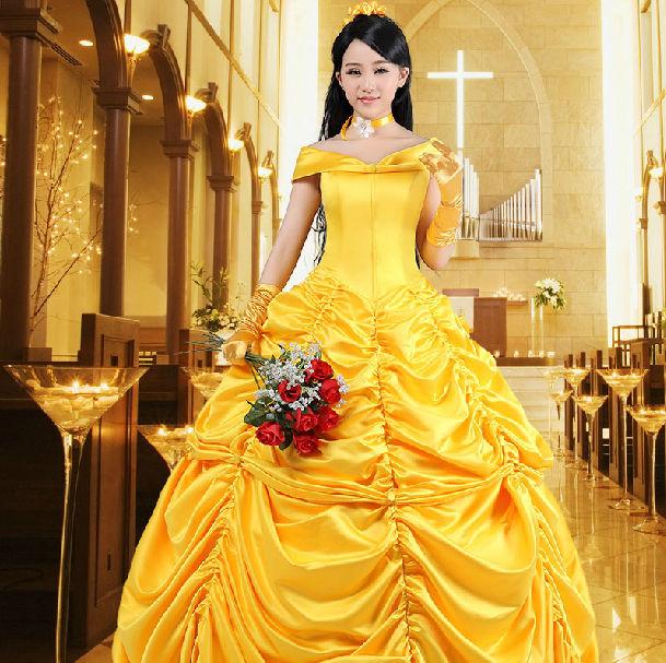 Adult Belle Costume Ladies Cosplay Princess Fancy Dress