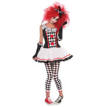 HLX6863 Halloween Costume Red Clown Costume