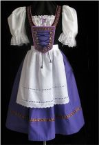 880 purple beer maid costume