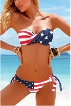 AMF1002 American Flag swimsuit