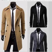 OEM Manufacture Hot Fashion Long Trench Coat Men Stylish Winter Coat