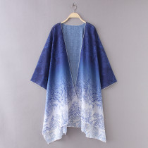 8605 Beach Cover Up Cape Tops Blouse