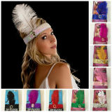 1920's flapper headband sequin feather head band party accessories fancy dress