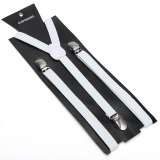 Slim1.5cm Fashion Best Sale 27 Colors Mix Suspenders Unisex Clip-on Elastic Braces Slim Suspender  Wholesale & Retail