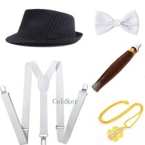 1920s Gansgster Fancy Dress Capone Mafia Pimp Gatsby Costume Mens 30s Cosplay Costumes Drop Shipping