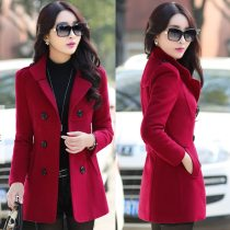 korea woolen trench coat