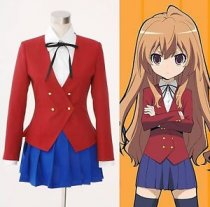 TIGER×DRAGON Aisaka Taiga Toradora Gal Uniform Cosplay Costume Dress Made Size