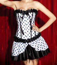 1235-1 corset mini skirt costume
