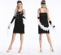 457 black flapper costume S-2XL $14