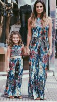mother daughter matching dress family set clothes for mother and children