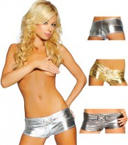 Panty-50 gold,silver,black 10pcs/color shiny shorts