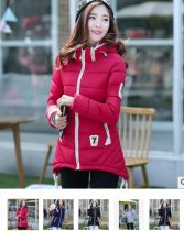 ZT770     M-3X L 70Women Thick Warm Wadded Jackets and coats With a Hood