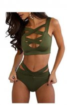 Criss Cross Swimwear Push Up Bandage Bikini