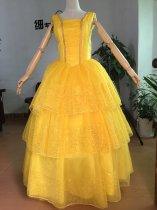 2017 Belle Dress Beauty and the Beast Cosplay Emma Watson Princess costume