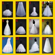 White bridal wedding dress prom petticoat underskirt skirt crinoline