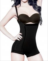 7110 BLACK STRAPPED SLIMMING CORSET