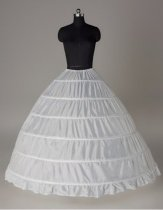 New 6-HOOP White Petticoat Wedding Gown Crinoline Petticoat Skirt Slip