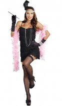 001 Flapper Costume Adult Roaring 20s Halloween Fancy Dress