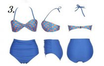 SA017 High Waisted Vintage Swimsuit