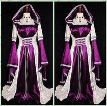 Renaissance Medieval Gown European Court Dress Women's Cosplay Costume Cape 8746