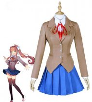 Halloween Doki Literature Club Sayori Yuri School Uniform Cosplay Costume