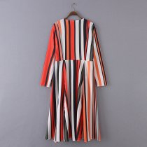 8715 Fashion Women's Loose Blouse Summer Boho Chiffon Coat