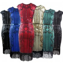Women 1920s Great Gatsby Vintage Fringe Flapper Dress