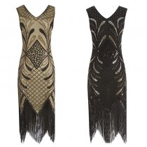 Vintage 1920s Women Flapper Dress