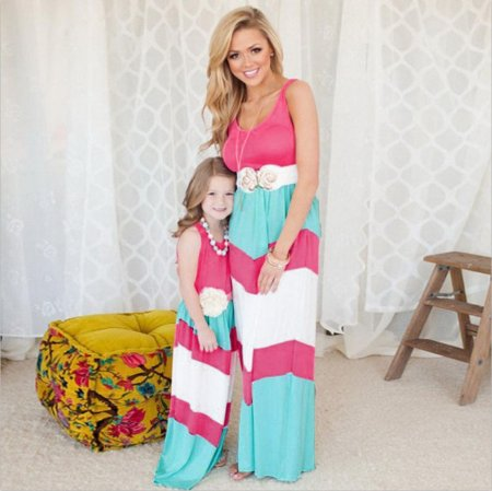 Mother and Daughter Dress Parent-child Clothes Family Matching Outfits Baby Girl