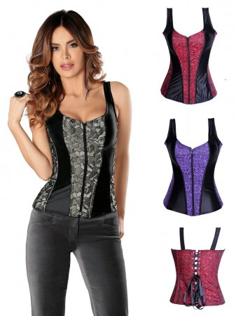 AM2928 Sexy Bustier Basques Corset