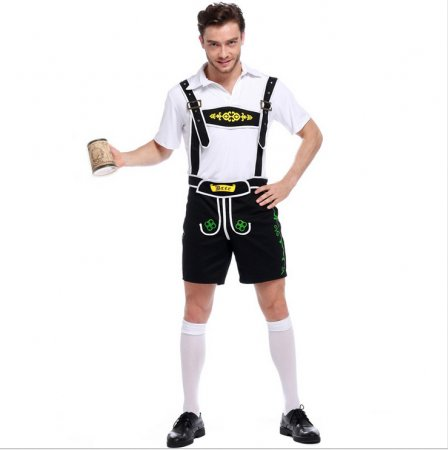 2827 black Mens German Bavarian Oktoberfest costume