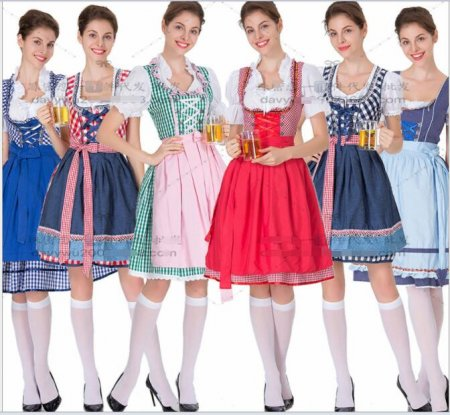 halloween costumes for women Oktoberfest Costume Octoberfest Bavarian Maid costume Party Female Oktoberfest Dress Beer Costume