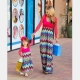 2017 NEW Mother and Daughter Dress Parent-child Clothes Family Matching Outfits