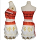 20180806 Women Animie Movie Polynesia princess Moana Cosplay Costume Dress