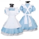 New Black Butler Alice in Wonderland Cosplay Anime Maid Costume Blue Dress