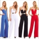 8693-38 sml v neck jumpsuit
