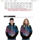QYDM079  Printed Hooded Sweatshirt 3d hoody