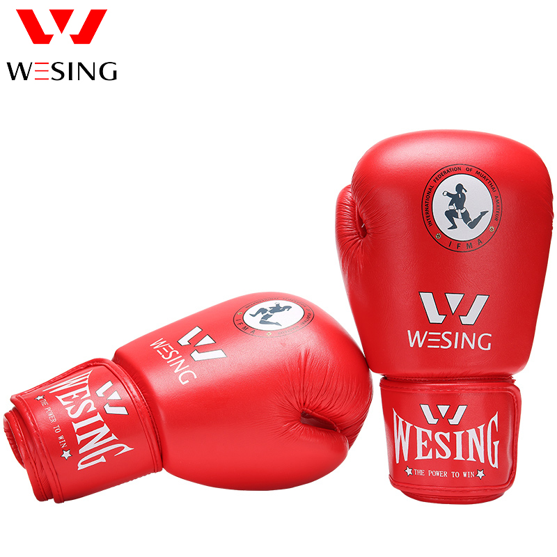 Wesing micro fiber thai boxing gloves muay thai gloves approved by