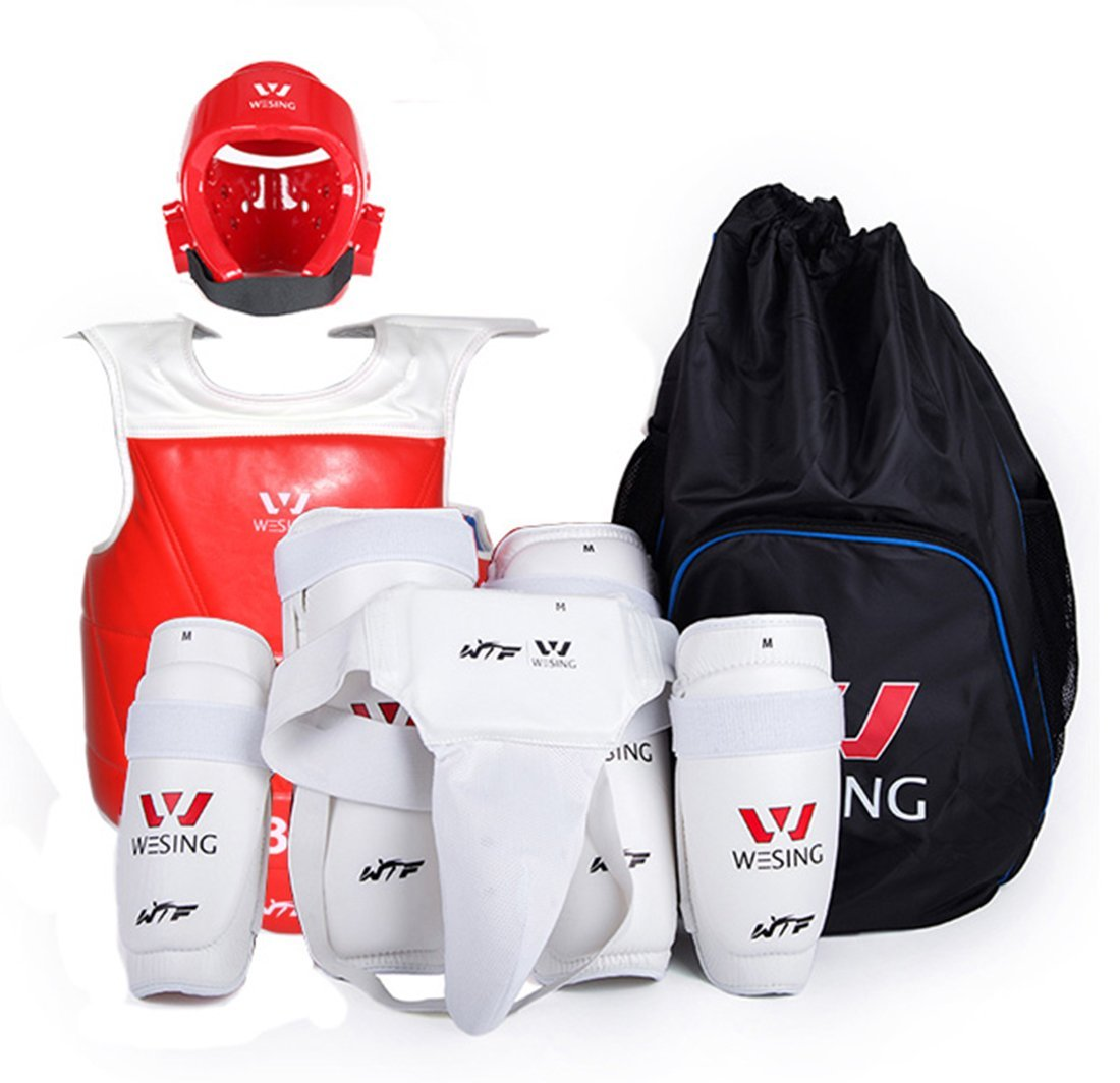 Wesing Sports WTF approved Taekwondo Sparring Gear Protector Guard Set