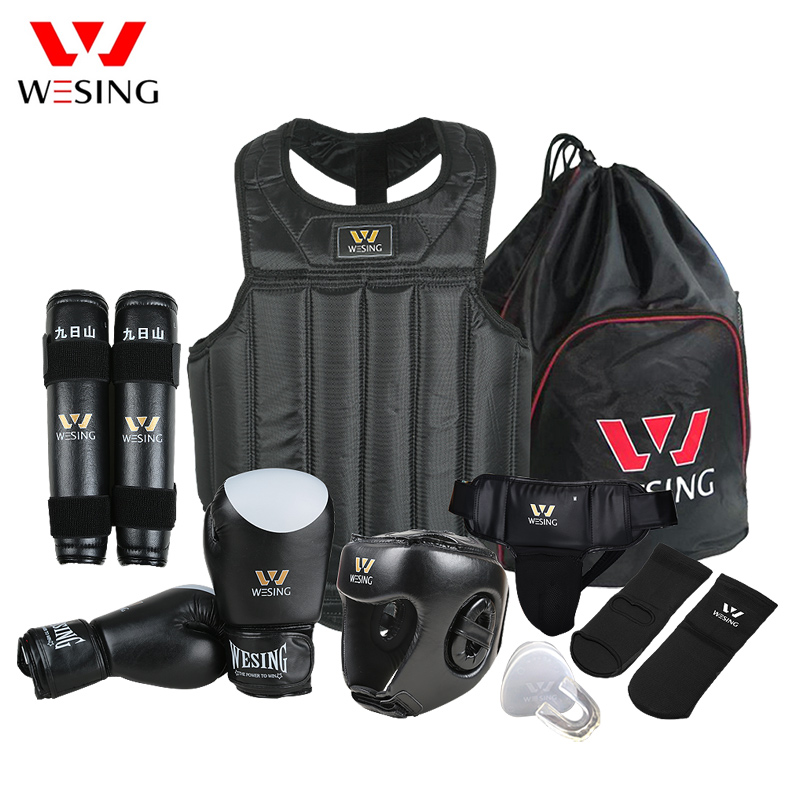 Martial Arts Gear Wushu Sanda Protector Set 8 Pcs Compeion Equipment For Training