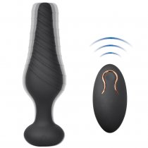 Vibrating Anal Vibrator with 10 Vibration Modes, Rechargeable Silicone Butt Plug Massager
