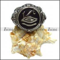 vintage stainless steel eye of horus ring r006513